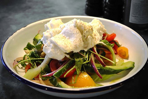 Mozzarella and Tomato Salad at Farmhouse Restaurant Essex