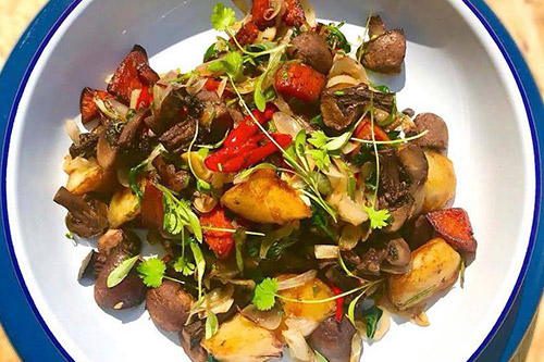 Vegan Hash at Farmhouse Restaurant Essex